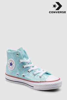 נעליים בצבע ירוק טורקיז של Converse מדגם Chuck Hi Youth