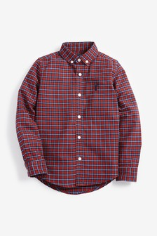 Long Sleeve Gingham Oxford Shirt (3-16yrs)
