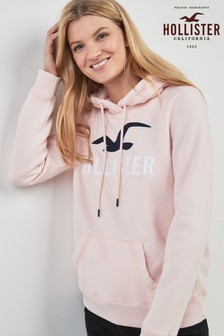 Hollister Logo Zip Through Hoody