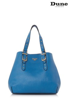 Dune Accessories Blue Small Buckle Detail Grab Bag