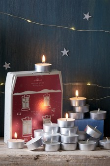 24 Pack Festive Spice Tea Light Candles