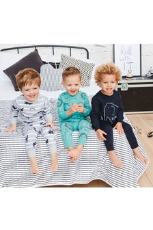 Multi Print Snuggle Pyjamas Three Pack (9mths-8yrs)