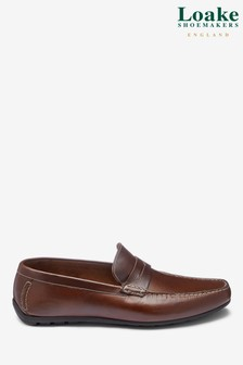 Loake Brown Waxy Leather Goodwood Loafer