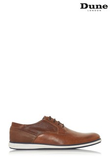 Dune Mens Tan Camo Detail Casual Gibson Shoe