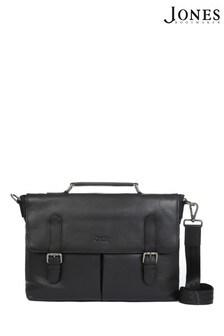 Jones Bootmaker Black Christopher Men's Leather Briefcase
