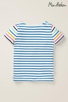 Boden Blue Short Sleeved Breton Top