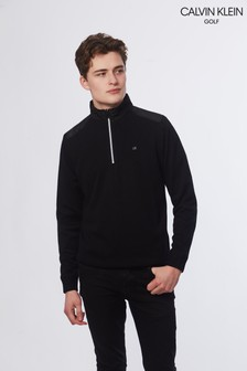 Calvin Klein Golf Black Extend Lined Jumper