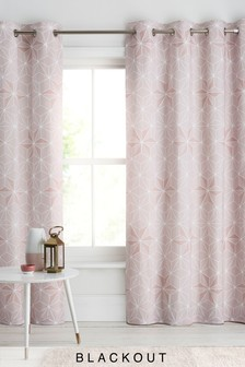 Geo Star Eyelet Curtains