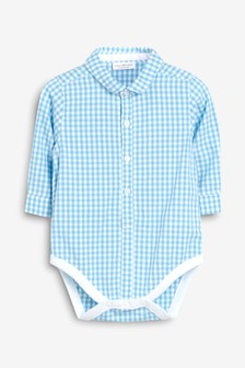 Gingham Shirt Bodysuit (0mths-2yrs)