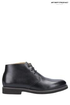Steptronic Black Knightsbridge Lace-Up Chukka Boots