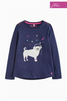 Joules Blue Bessie Screen Print Top