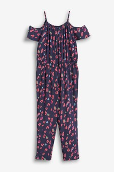 Printed Cold Shoulder Jumpsuit (3-16yrs)
