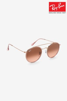 Ray-Ban® Rose Gold Round Sunglasses