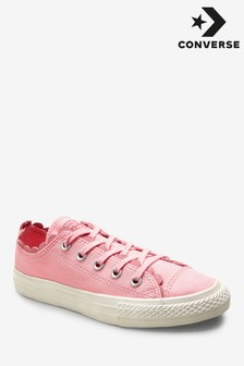 Converse Youth Pink Washed Youth Frill Chuck Ox Trainer