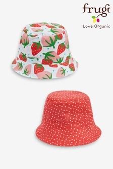 Frugi Organic Strawberry Print Reversible Hat
