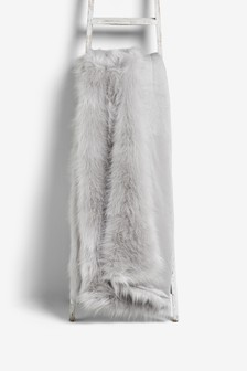 Long Faux Fur Throw