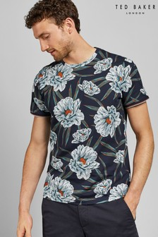 Ted Baker Navy Short Sleeve Floral T-Shirt