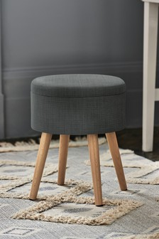 Soft Texture Charcoal Storage Stool