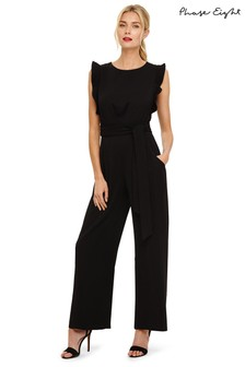 Phase Eight Black Victoriana Jumpsuit
