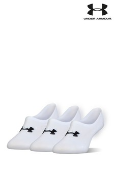 Under Armour White Ultra Low Socks Three Pack