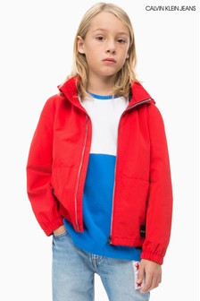 Calvin Klein Jeans Boys Red Lightweight Jacket