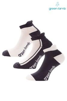 מארז שלושה זוגות גרביים בדוגמת קולור בלוק של Green Lamb בלבן