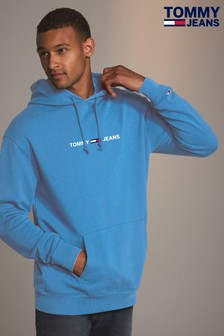Tommy Jeans Blue Small Logo Hoody