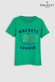Hackett Kids Green 1983 Short Sleeve Tee