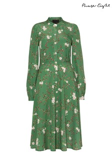 Phase Eight Green Christina Floral Shirt Dress