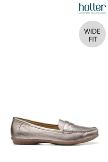Hotter Hailey Wide Fit Slip-On Loafer Shoes