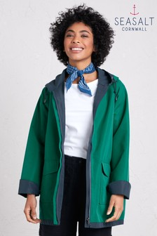 Seasalt Green The Reversible Raincoat