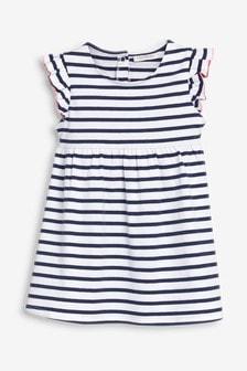 שמלת ג'רזי עם שרוולי מלמלה (0 חודשים-2 שנים)
