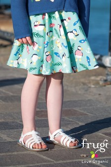 Frugi Organic Blue Puffin Skort With Hidden Shorts