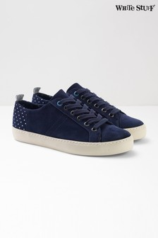 White Stuff Blue Sally Contrast Lace-Up Trainer