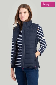 Joules Blue Fallow Padded Gilet With Funnel Neck