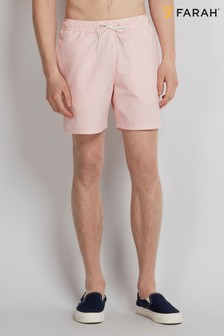 Farah Hot Pink Colbert Seersucker Swim Short