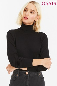 Oasis Black Lizzie Polo Neck
