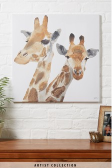 Artist Collection Giraffes by Julia Burns Canvas