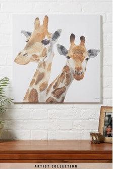 Artist Collection Giraffes By Julia Burns Canvas