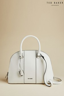 Ted Baker White Baylley Leather Dome Cross Body Bag