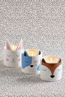 Set of 3 Ceramic Animal Shaped Candles