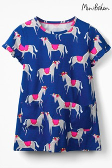 Boden Blue Colourful Tunic