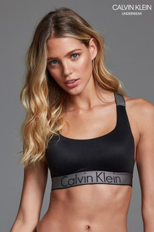 3775374820f Calvin Klein Black Lightly Lined Bralette