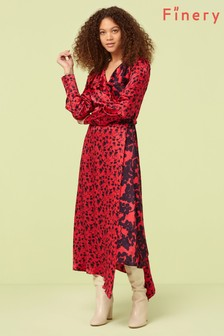 Finery London Pink Daria Wrap Dress