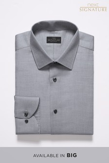 Signature Regular Fit Single Cuff Textured Shirt