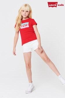 Pantaloni scurți din denim pentru copii Levi's® albi