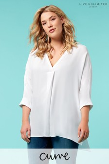 Live Unlimited White V-Neck Blouse