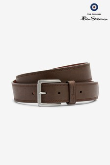 Ben Sherman® Casual Brown Stitched Belt