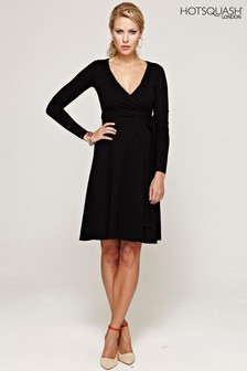 HotSquash Black The Wrap Dress