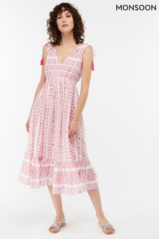 Monsoon Ladies Pink Priya Mirror Dress